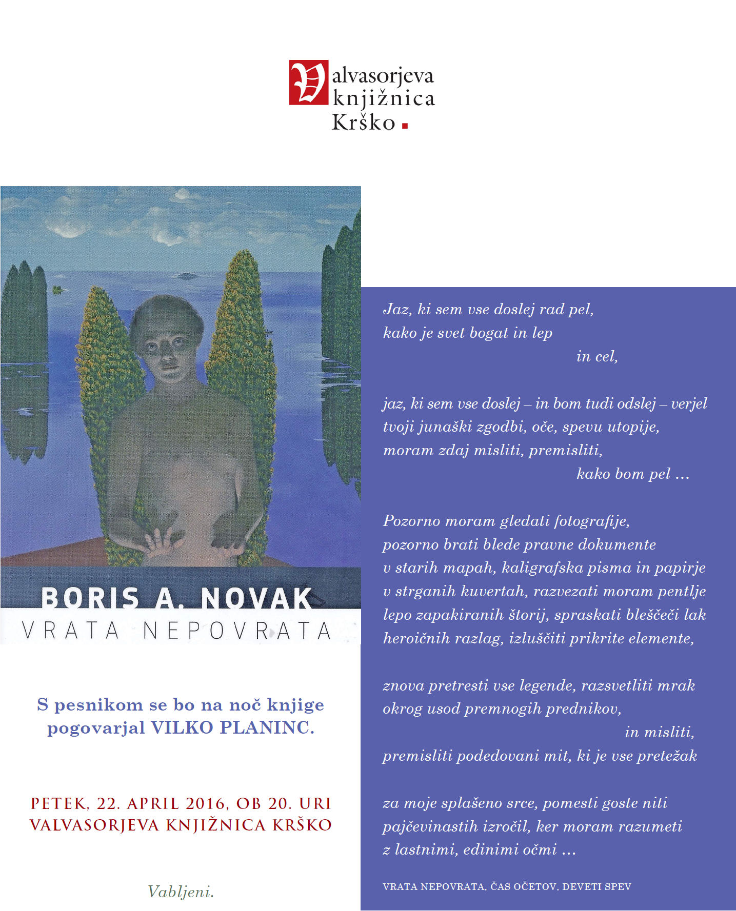 Boris A. Novak 22.4.2016